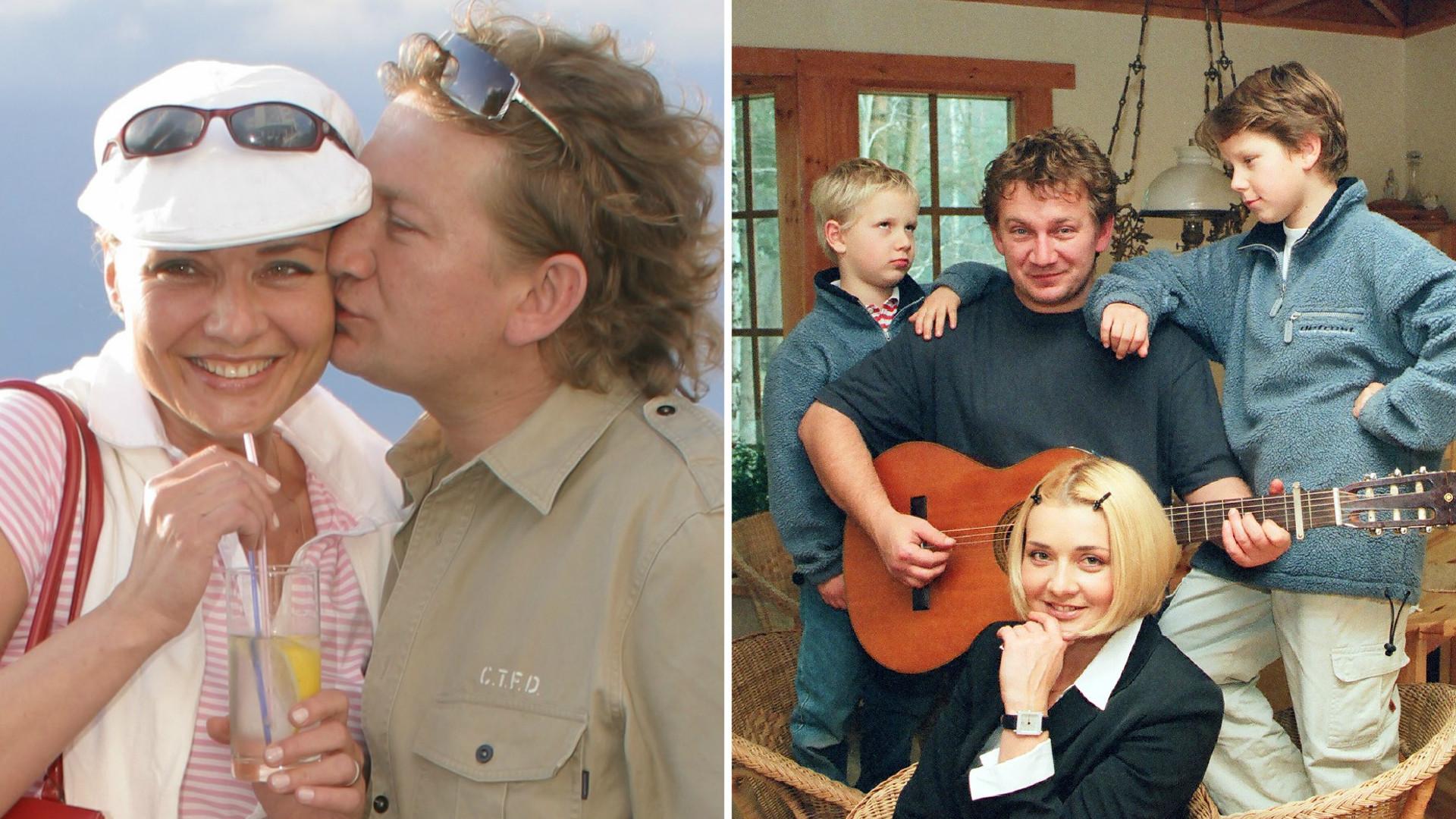 Paweł Królikowski na starych zdjęciach z ukochaną żoną i piątką dzieci