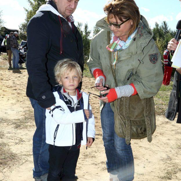 Malgorzata Ostrowska-Krolikowska z mezem Pawel Krolikowski i z synem Ksawery