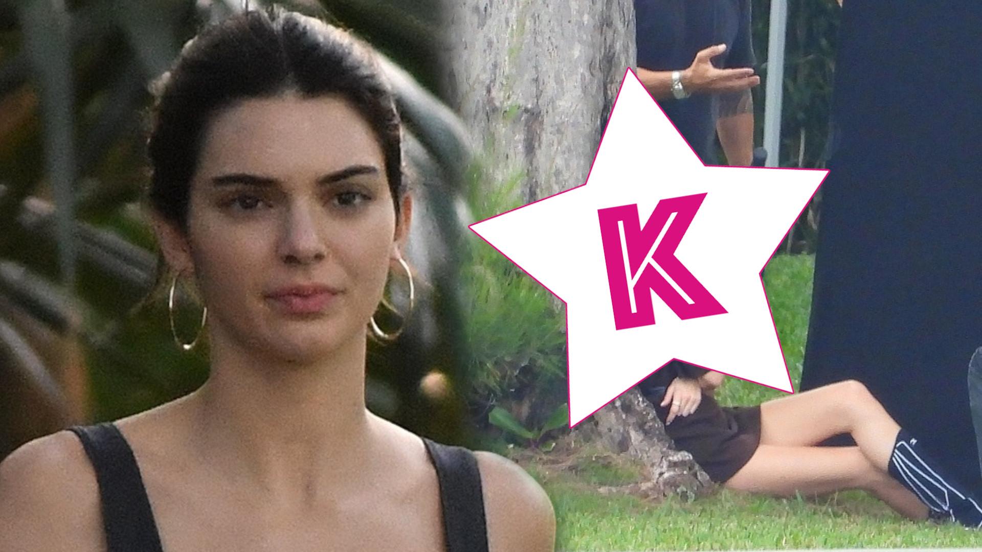 Znudzona Kendall Jenner na planie sesji zdjęciowej. Tak to wygląda od KUCHNI (ZDJĘCIA)