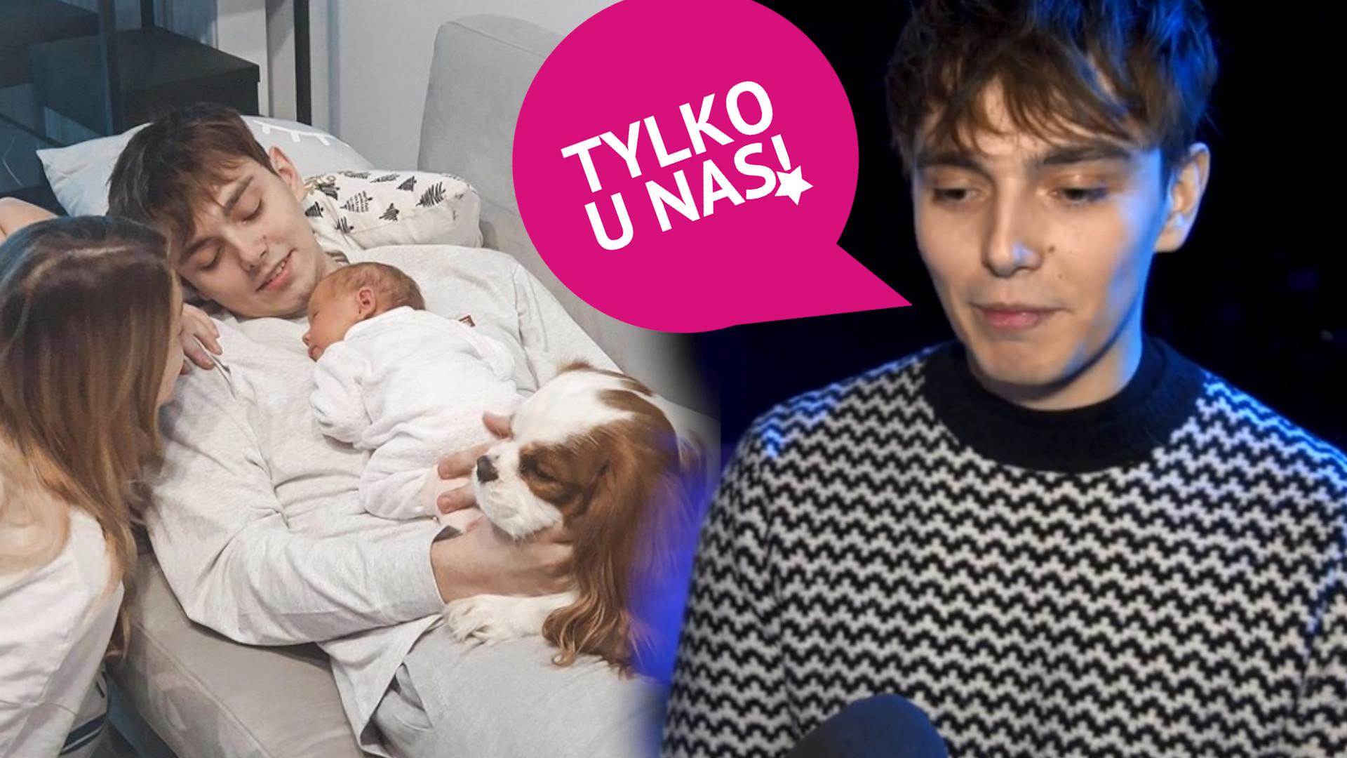 Jaś Dąbrowski o swoim WCZESNYM ojcostwie! Tak pięknie mówi o Sylwii Przybysz (WIDEO)