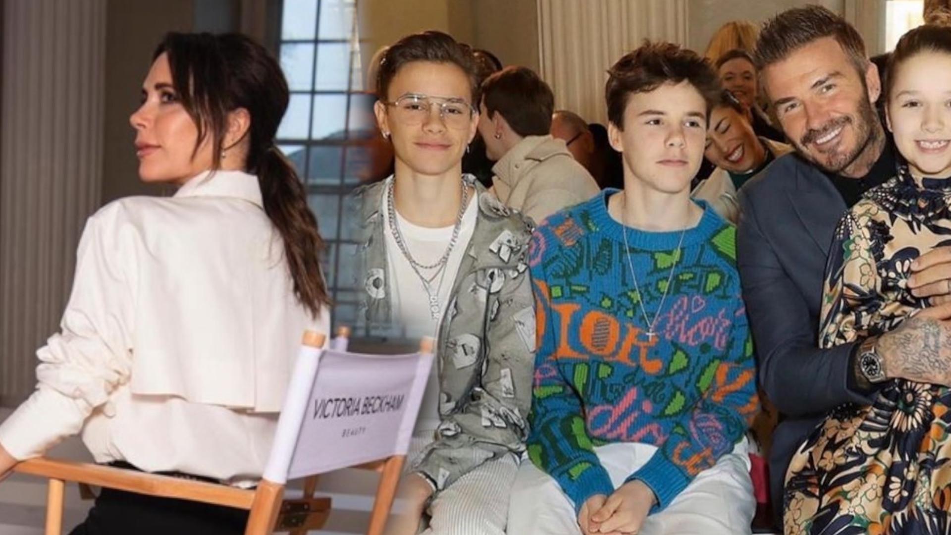 Bankrutująca Victoria Beckham zrobiła wielkie SHOW podczas Fashion Weeku. HARPER pierwszy raz pojawiła się w projekcie mamy