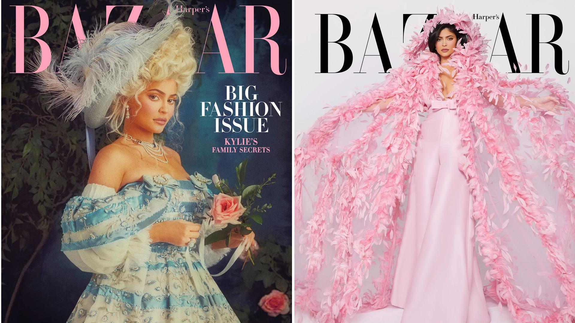 Kylie Jenner jak francuska KSIĘŻNICZKA w sesji dla Harper's Bazaar (ZDJĘCIA)