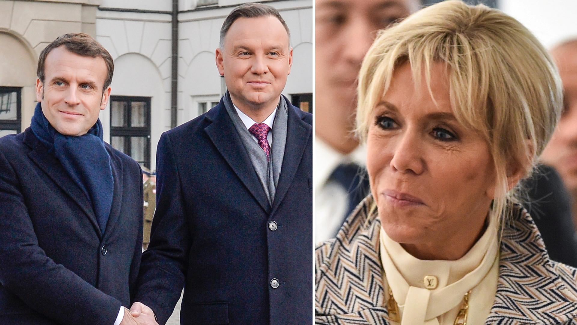 Emmanuel Macron przyleciał do Polski, ale nie ma z nim żony, Brigitte Macron (ZDJĘCIA)