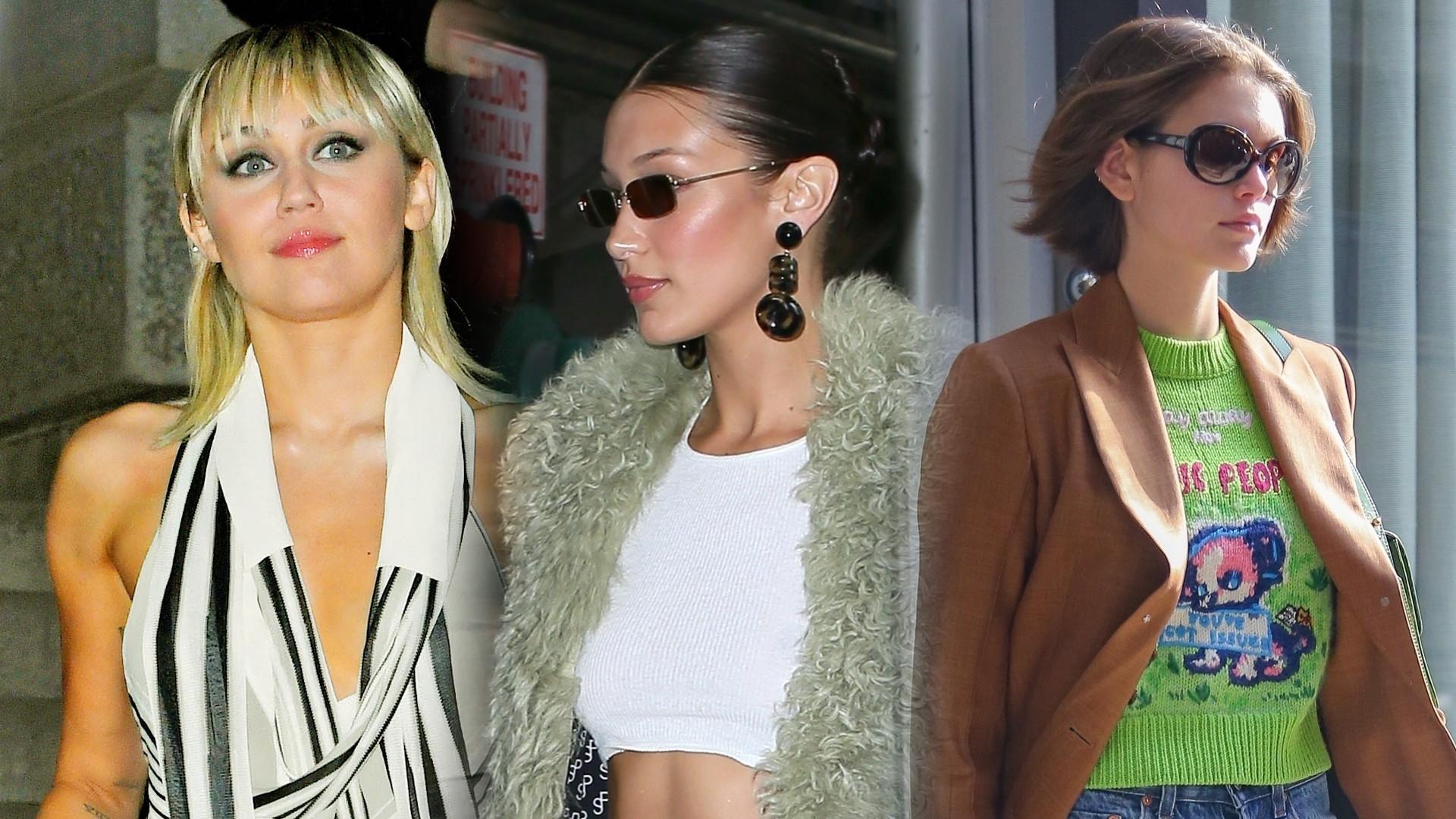Siostry Hadid, Miley Cyrus i Kaia Gerber na pokazie Marca Jocobsa w Nowym Jorku (ZDJĘCIA)