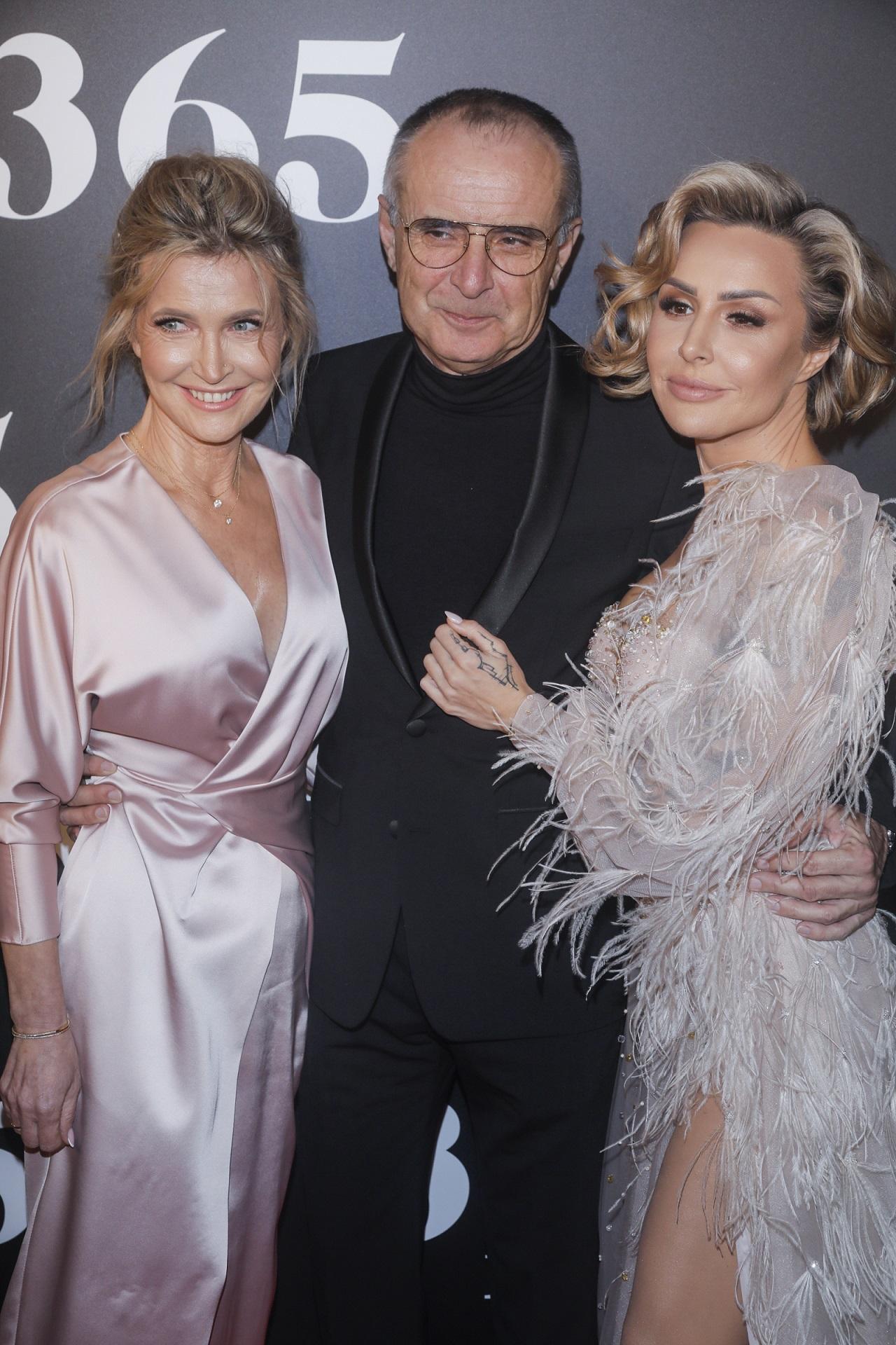 Blanka Lipińska z rodzicami