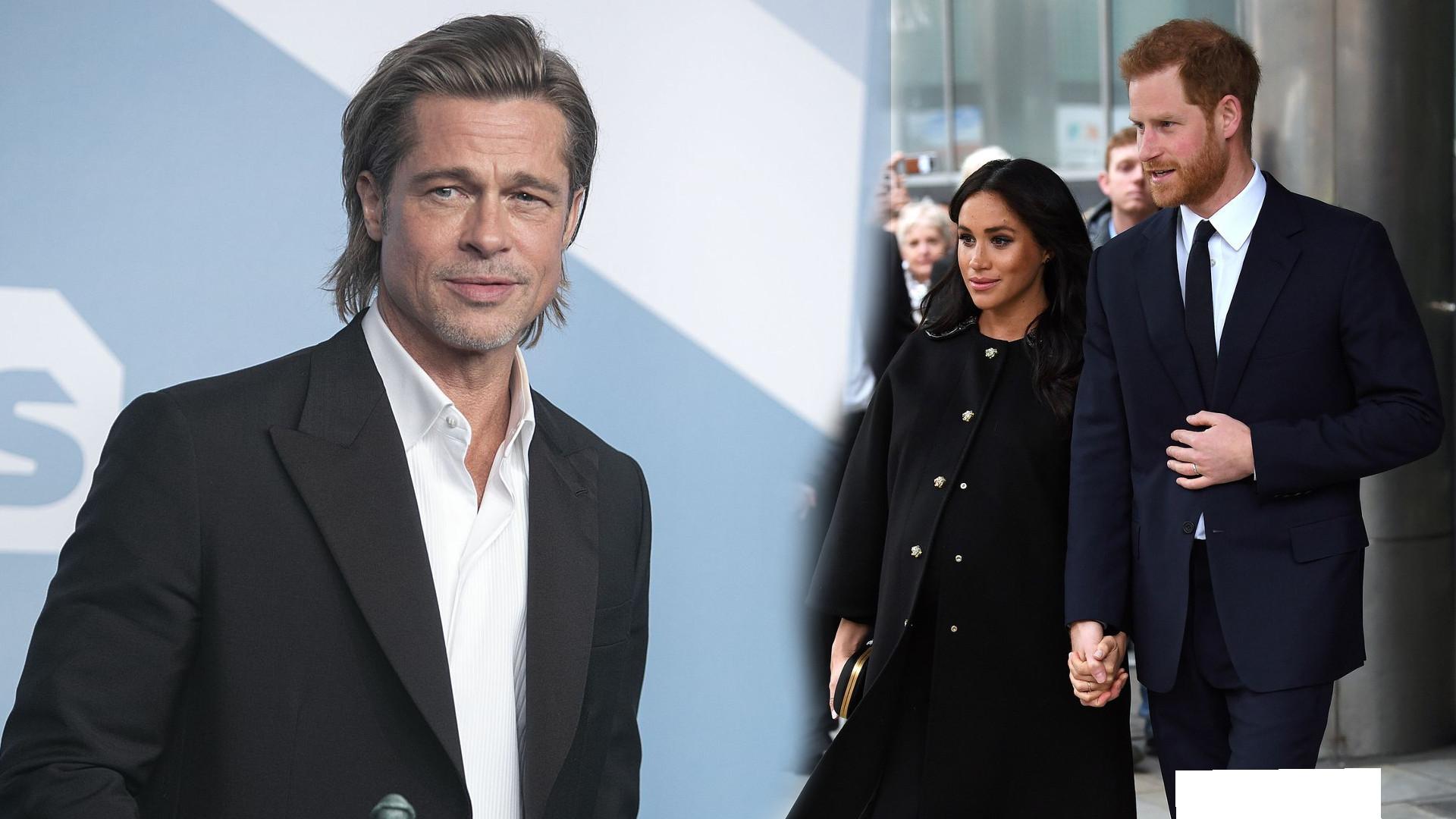 Brad Pitt żartuje sobie z Meghan Markle i Księcia Harry'ego na BAFTA 2020. Wiedzieliście, że ma takie poczucie humoru?