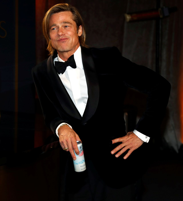 Brad Pitt podczas Oscarów