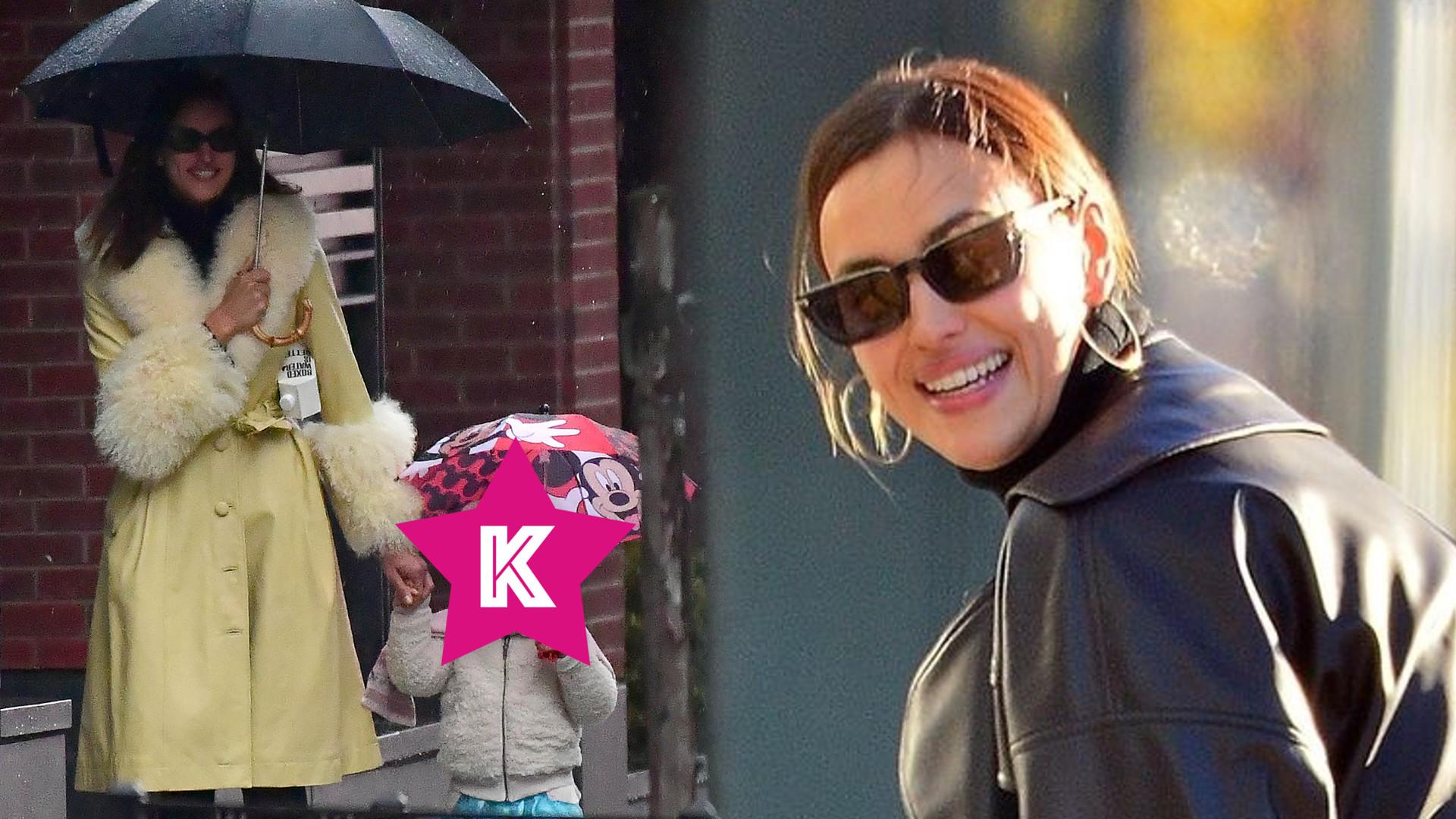 Irina Shayk spaceruje z córką po deszczowym Nowym Jorku. Spójrzcie tylko na stylizację małej Lei! (FOTO)