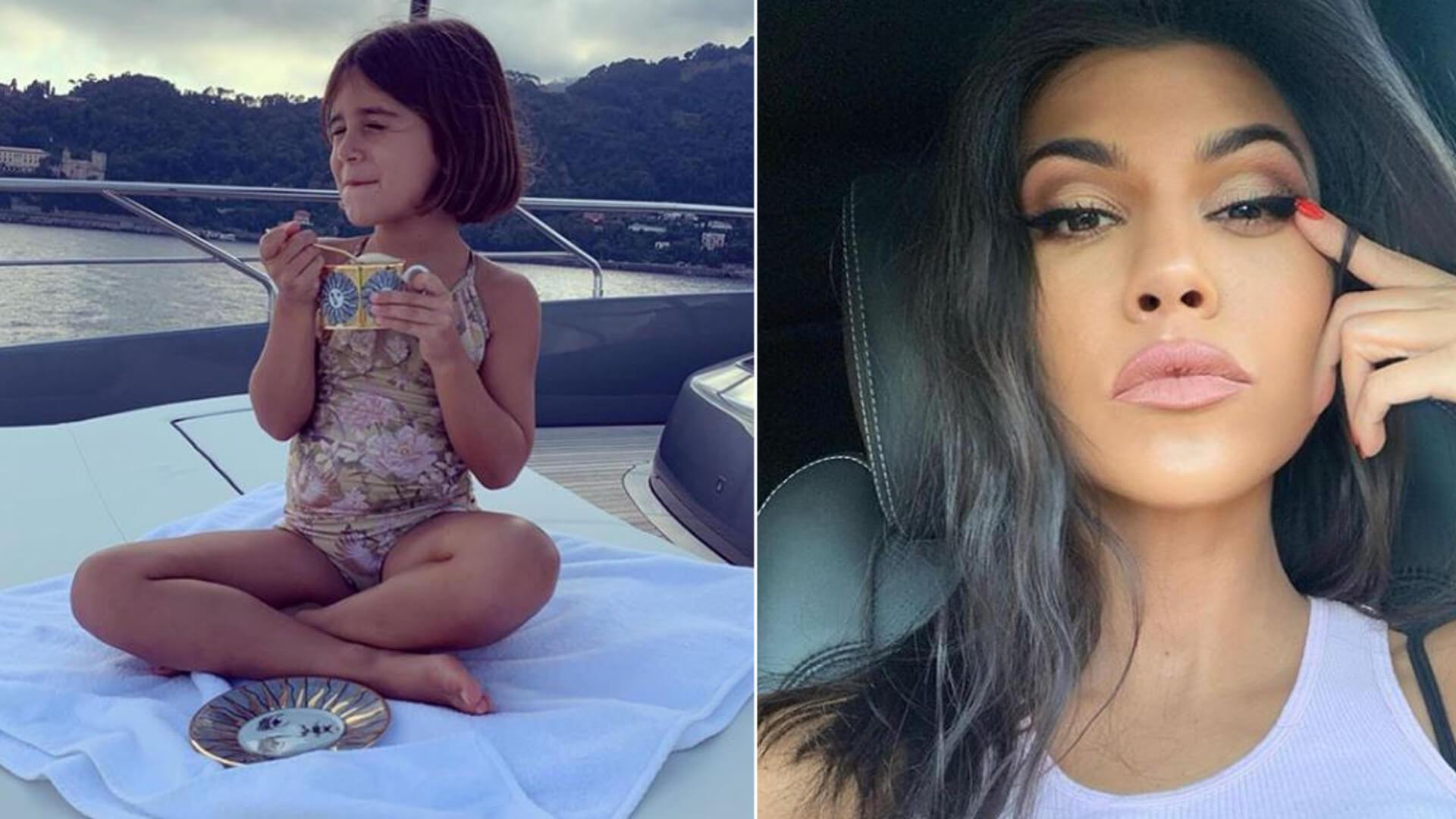 Zaspana Kourtney Kardashian prosto z łózka pokazała, jak wyglądają poranki w jej domu
