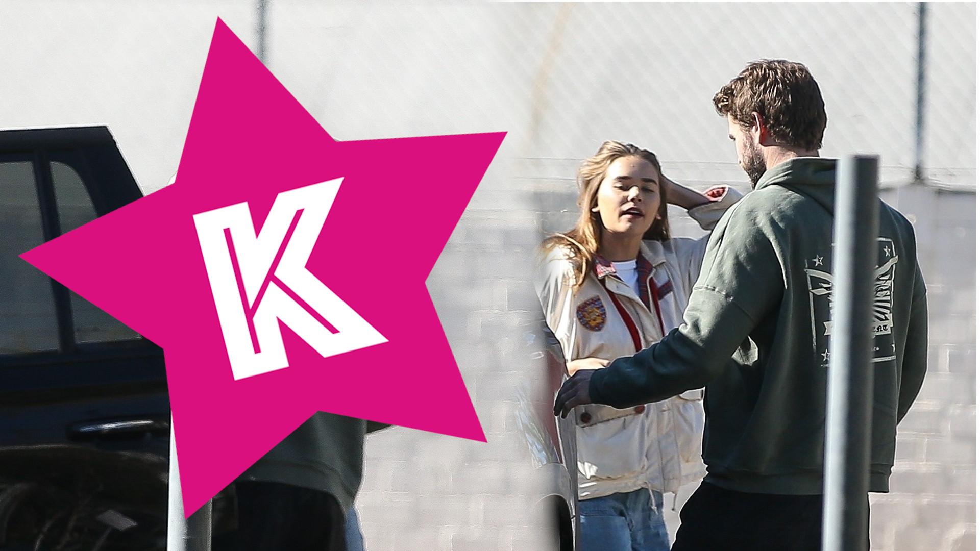 Liam Hemsworth szczęśliwe zakochany w australijskiej modelce. Namiętne pocałunki po siłowni