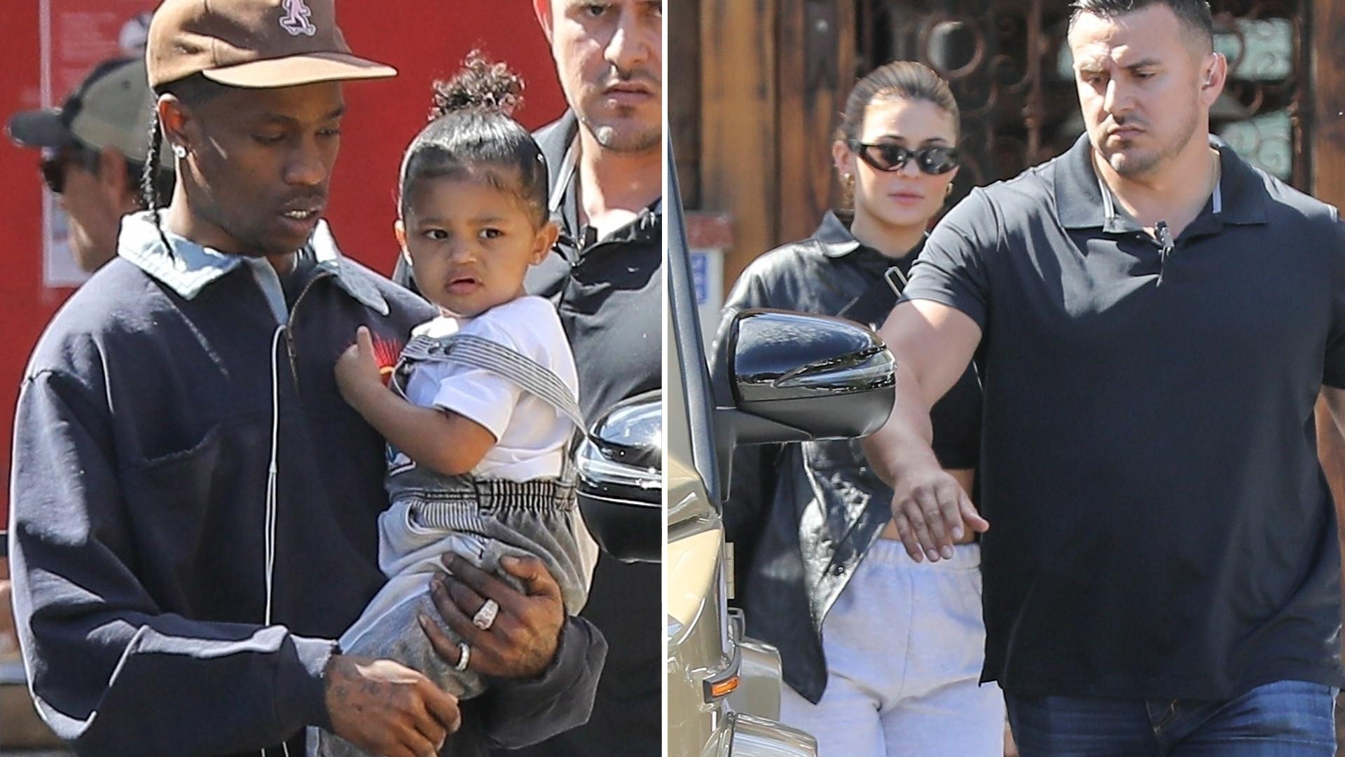 Kylie Jenner i Travis Scott pojechali razem na lunch (ZDJĘCIA)