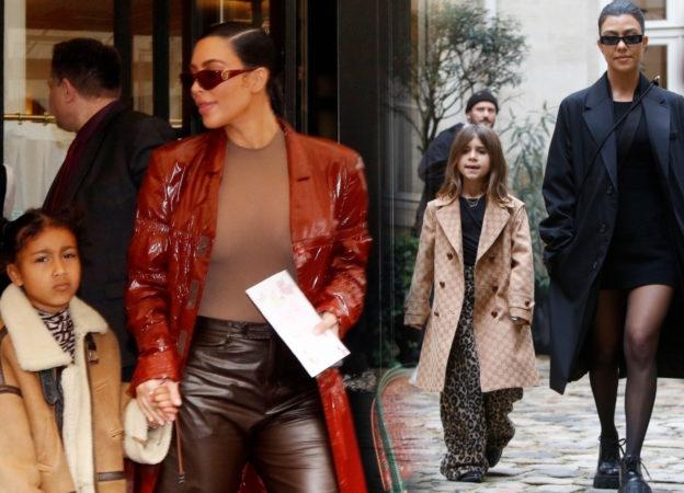 Kim kardashian Kourtney Kardashian w Paryżu z córkami