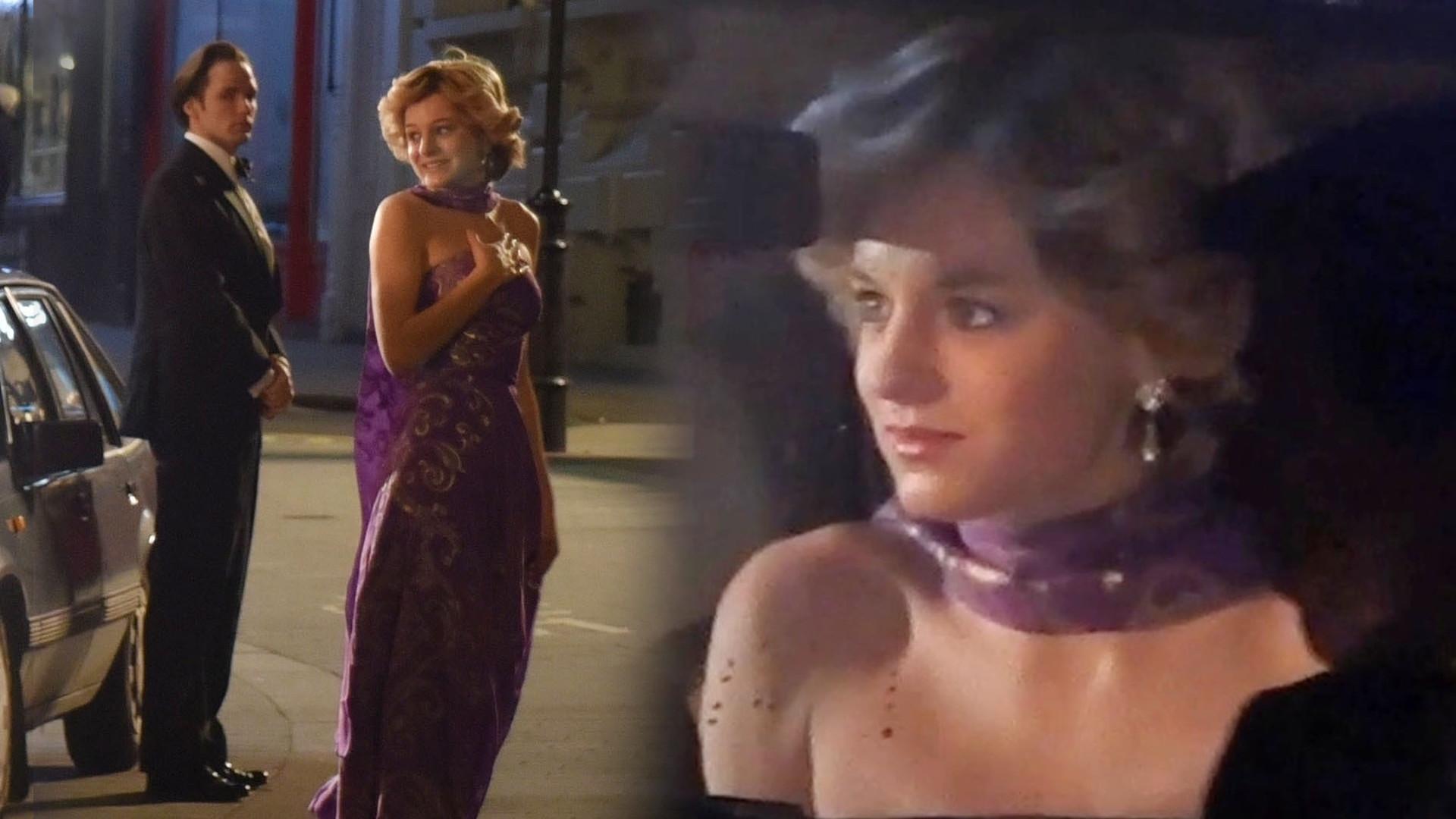"""Emma Corrin jako księżna Diana na planie serialu """"The Crown"""" (ZDJĘCIA)"""