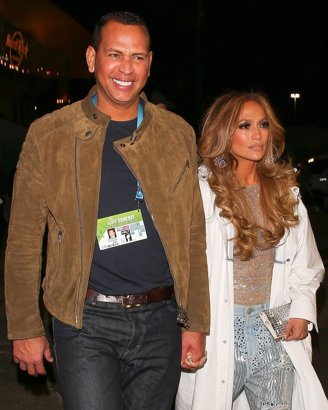 Jennifer Lopez i Alex Rodriguez idą za rękę