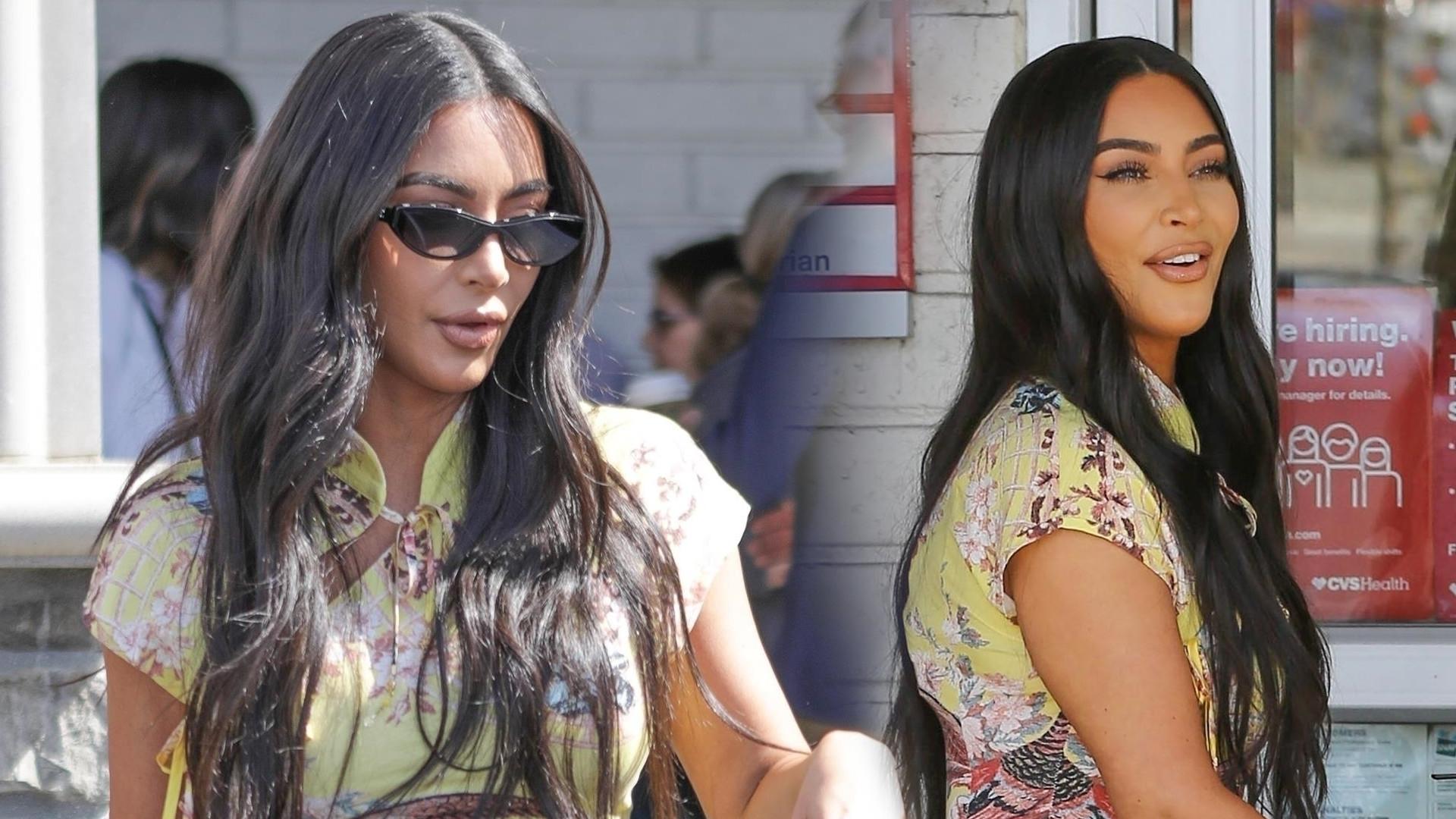 Kim Kardashian jest NIEMOŻLIWA. W TAKIM stroju robi zakupy spożywcze (ZDJĘCIA)