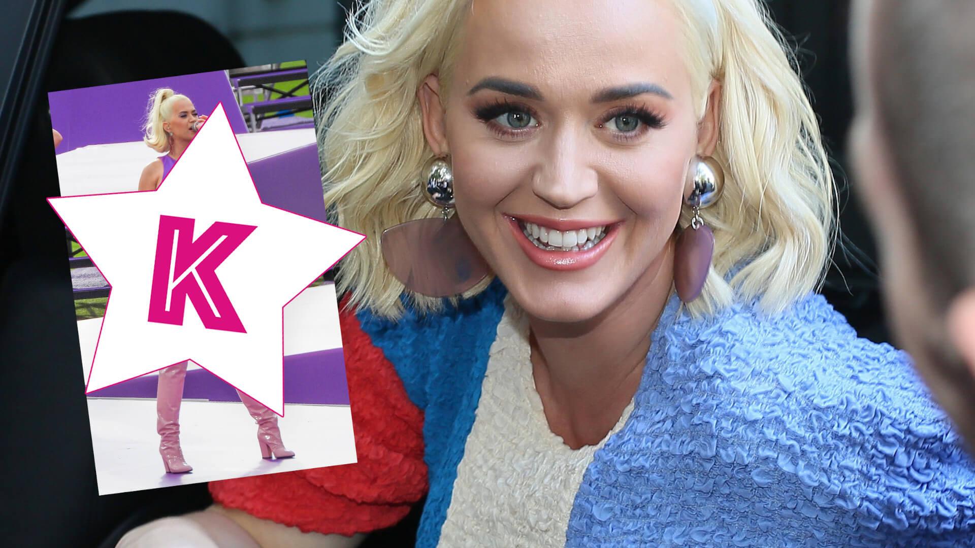 Ciężarna Katy Perry w OBCISŁEJ sukience! Nadruk sugeruje PŁEĆ dziecka?