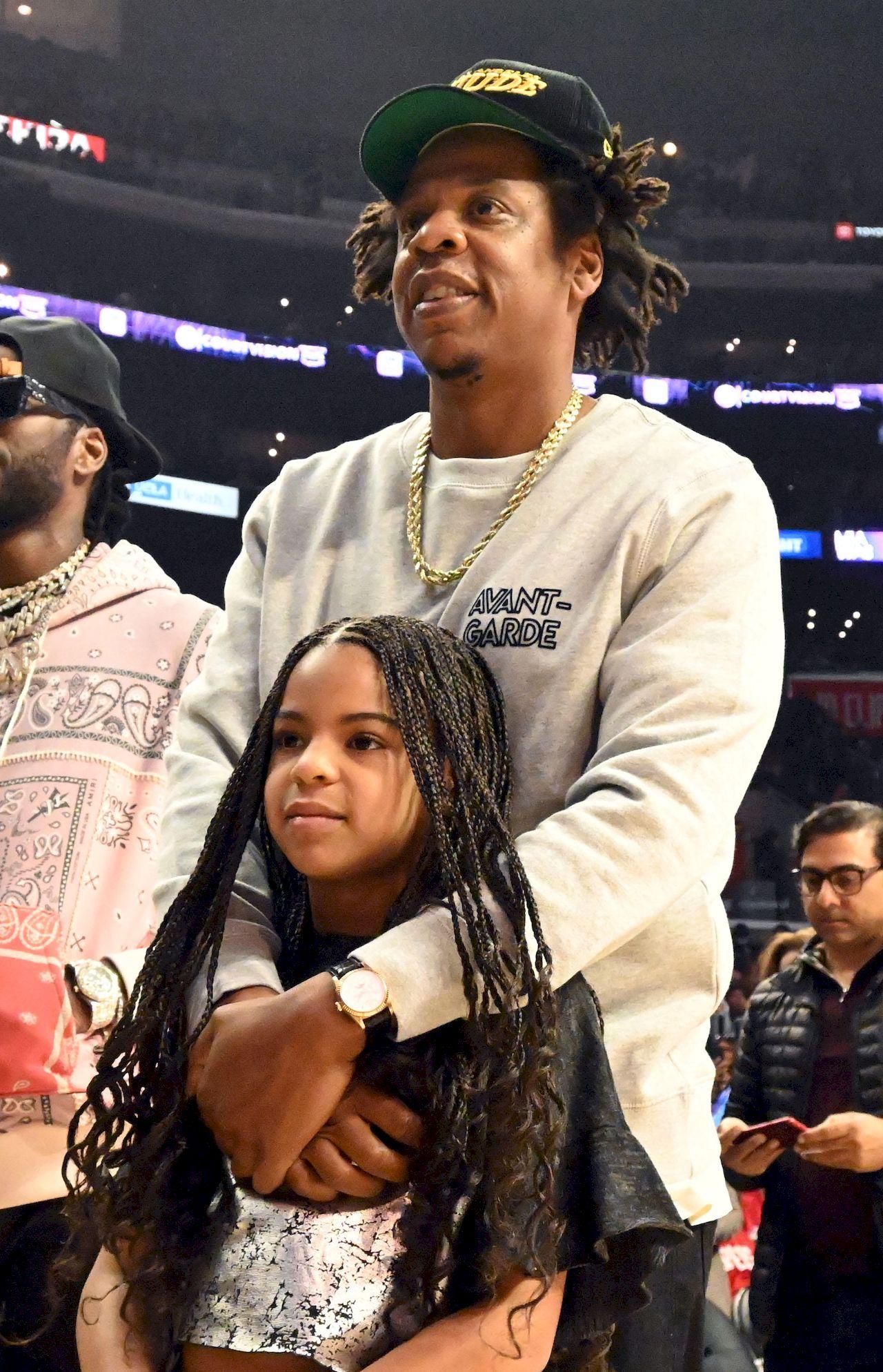 Blue Ivy z tatą Jayem-Z