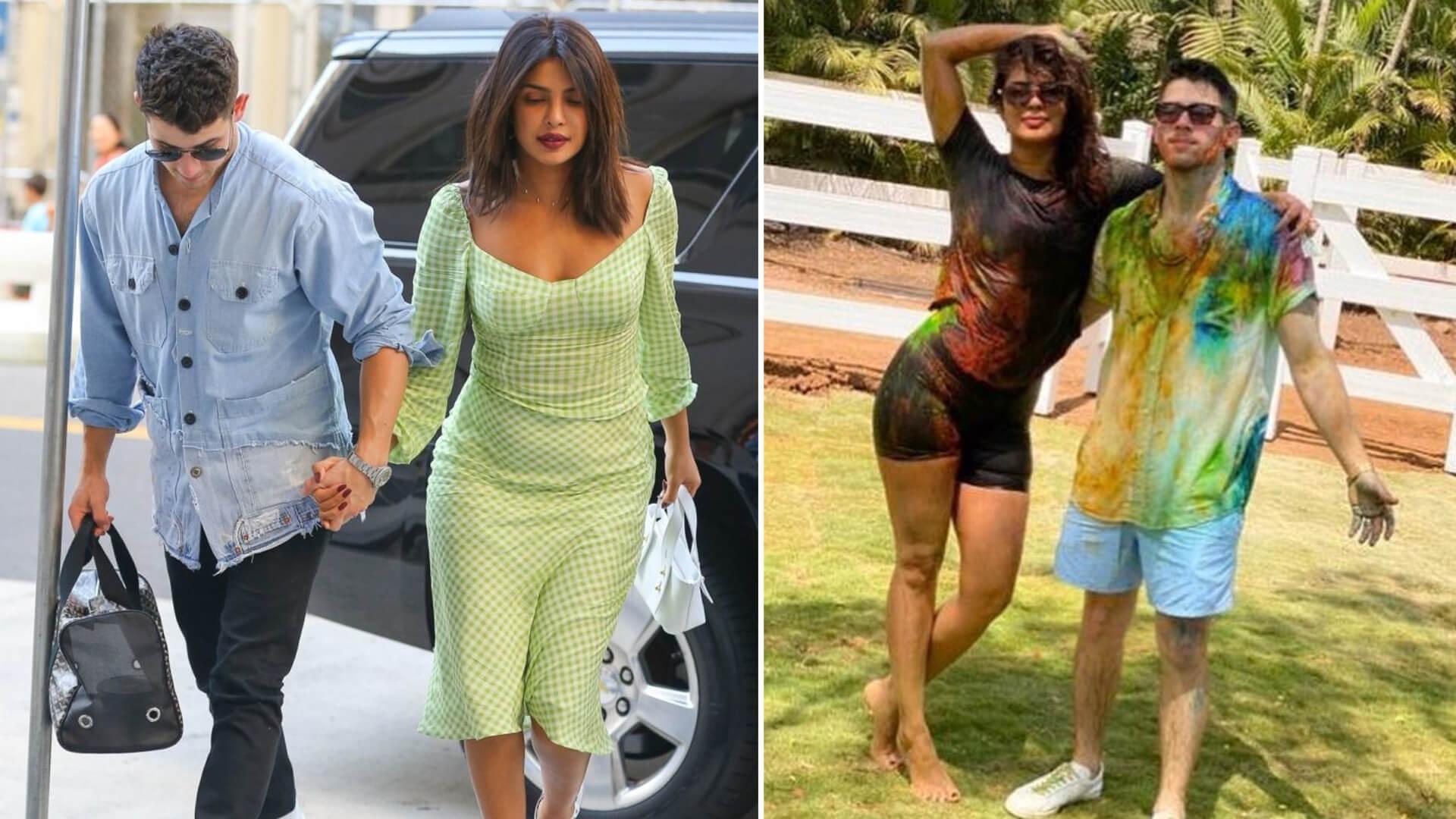 Priyanka Chopra zabrała Nicka Jonasa na pierwsze Święto Radości w jego życiu. Jego mina – bezcenna