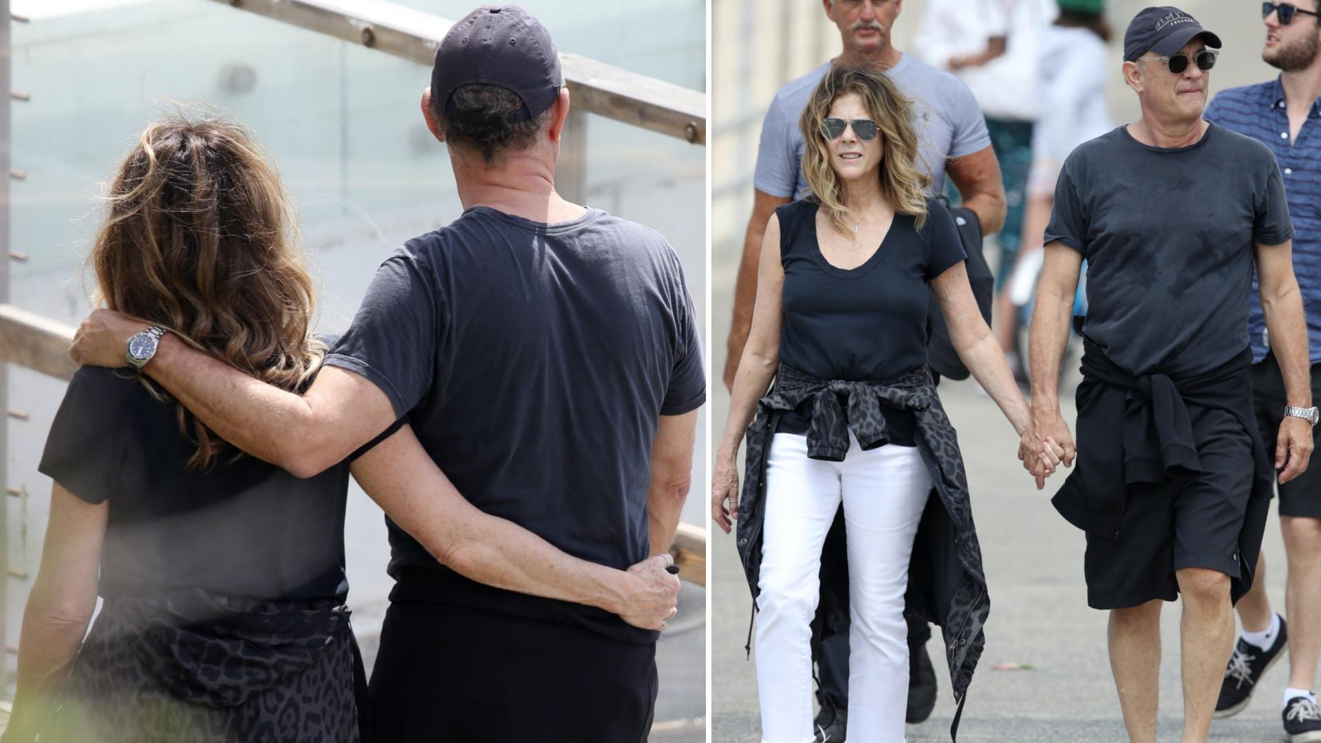 Tom Hanks z żoną i SYNEM jeszcze kilka dni temu spokojnie spacerowali po Sydney (ZDJĘCIA)