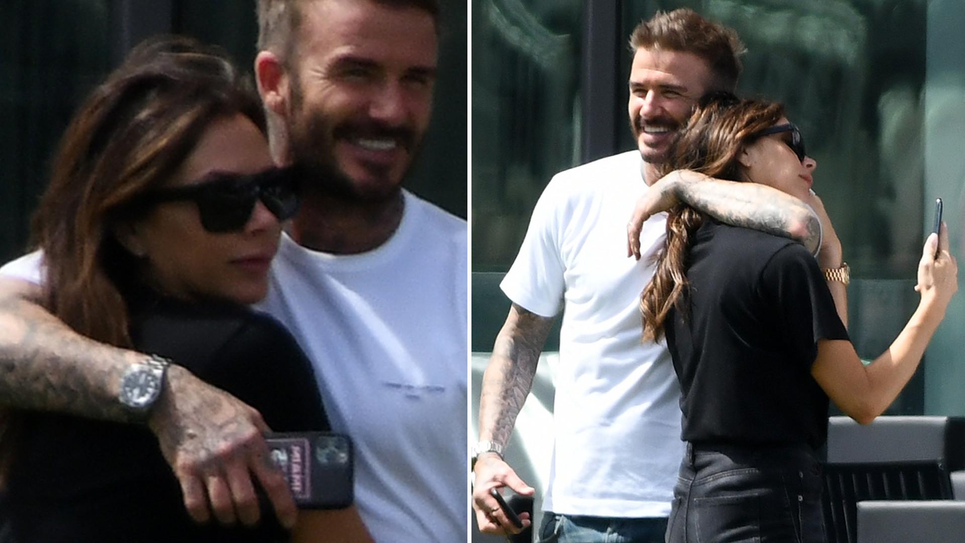 Victoria i David Beckhamowie tulą się do siebie podczas meczu (ZDJĘCIA)