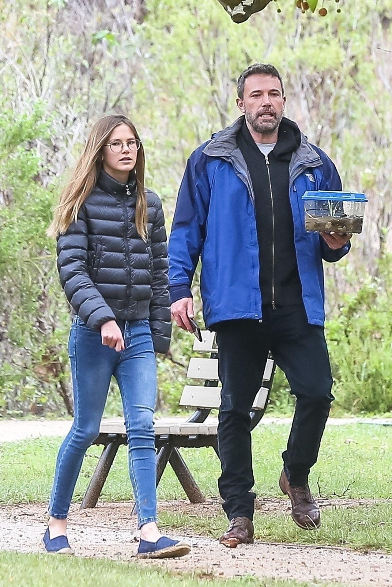 Ben Affleck spędza czas z dziećmi - na zdjeciu najstarsza córka aktora