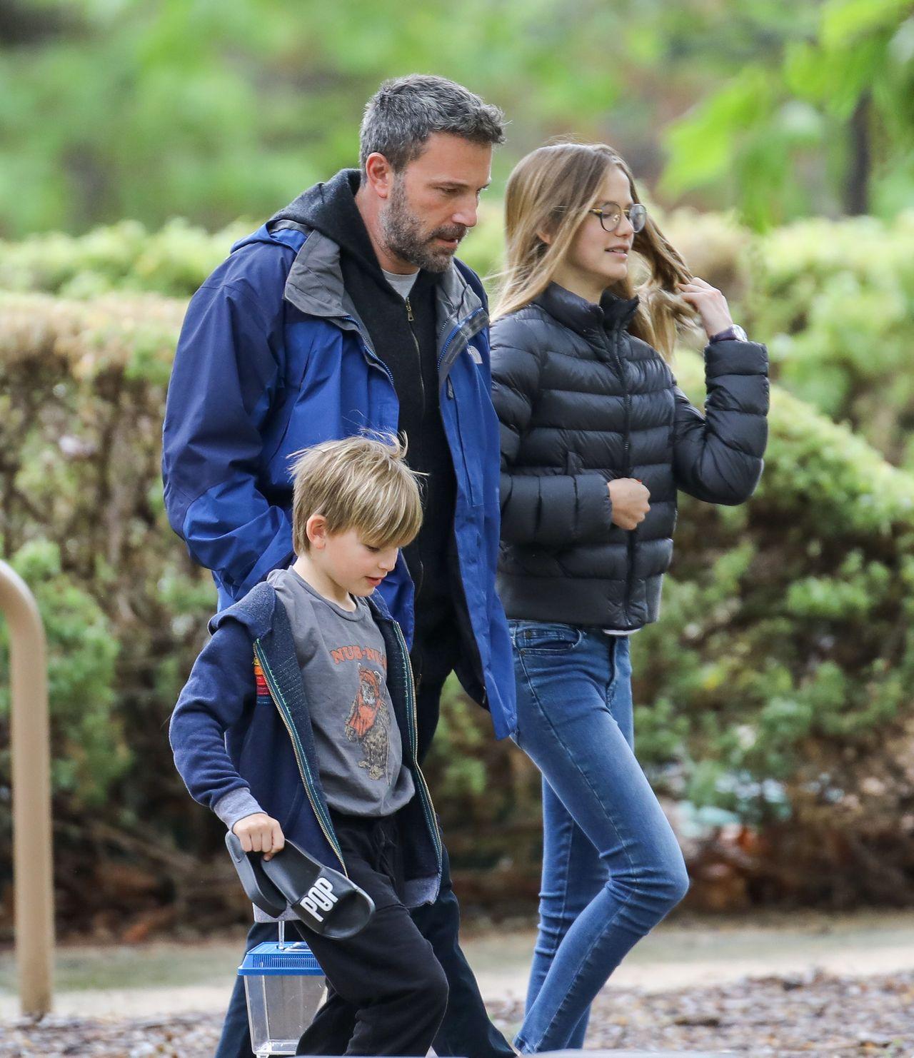 Ben Affleck z najstarszą córką Violet i synem Samuelem