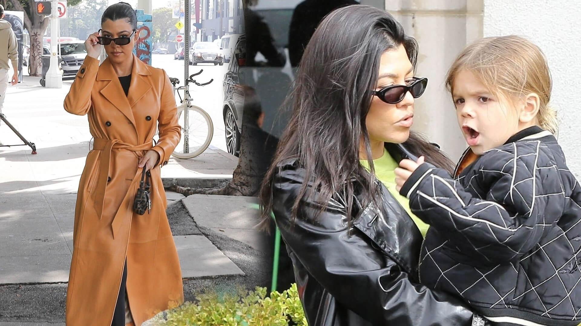 Kourtney Kardashian podczas domowej kwarantanny jest jak każda z nas. W piżamach i nie umytych włosach