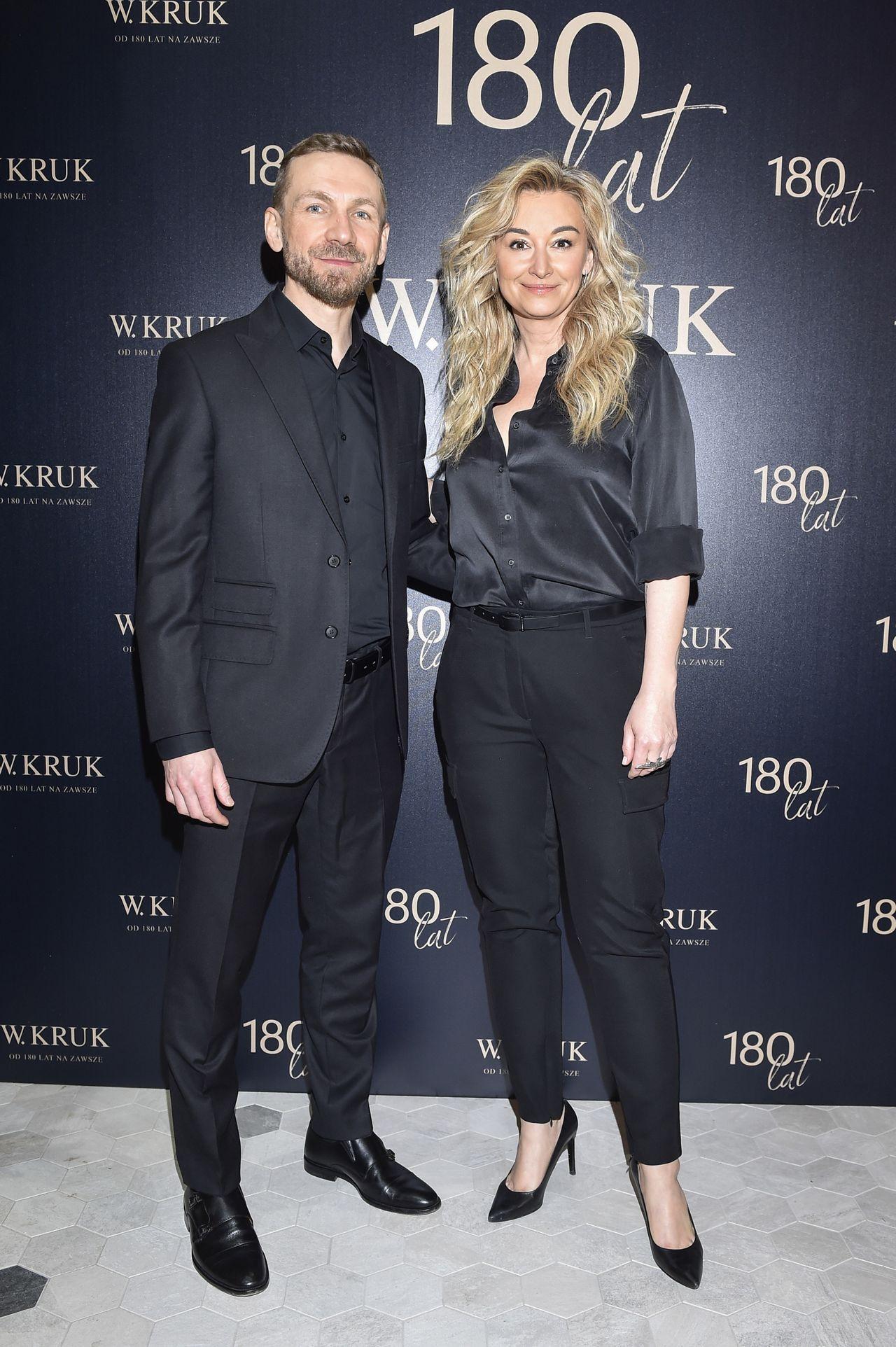 Przemysław Kossakowski i Martyna Wojciechowska na ściance