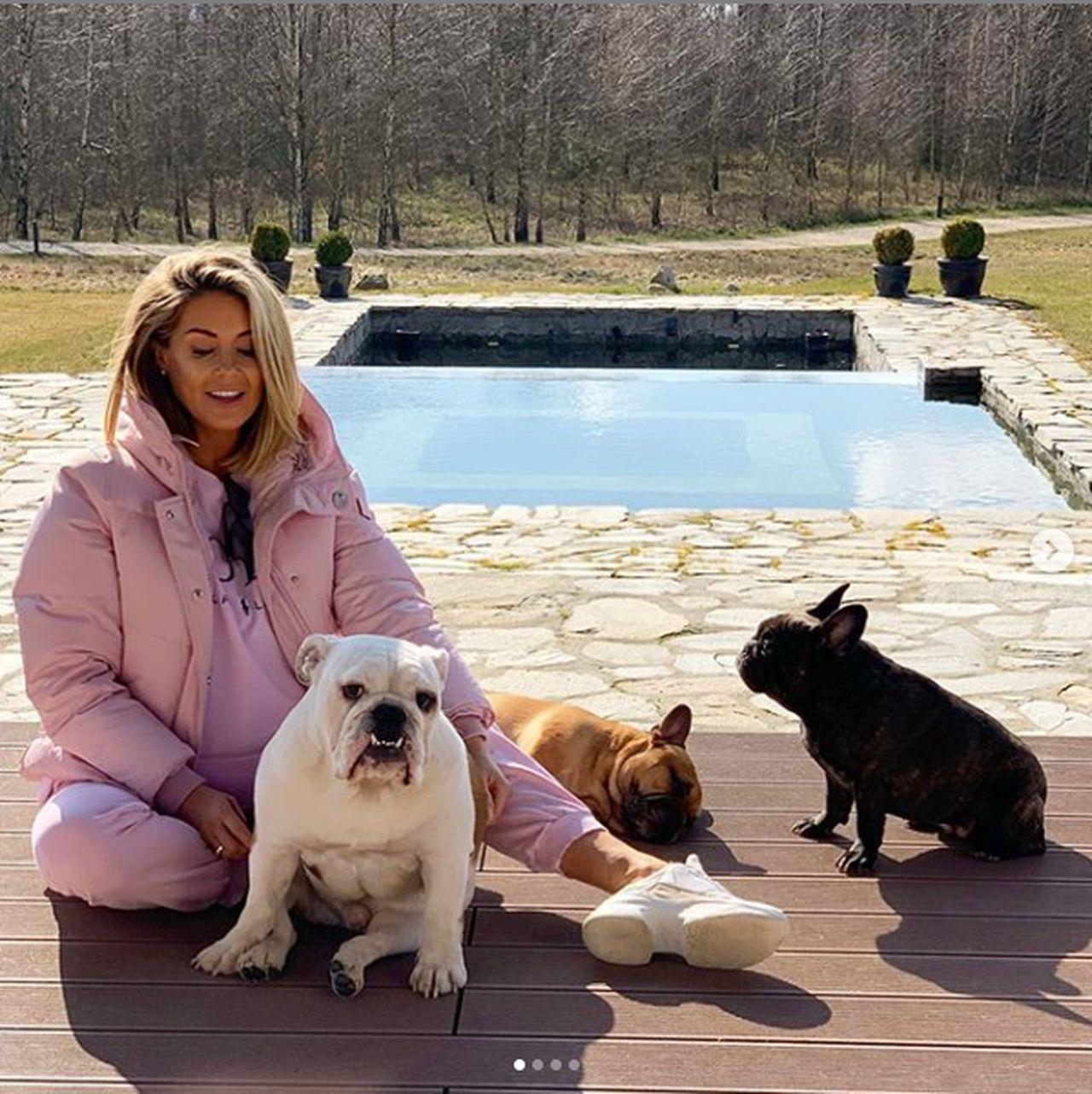 Małgorzata Rozenek ze swoimi psami