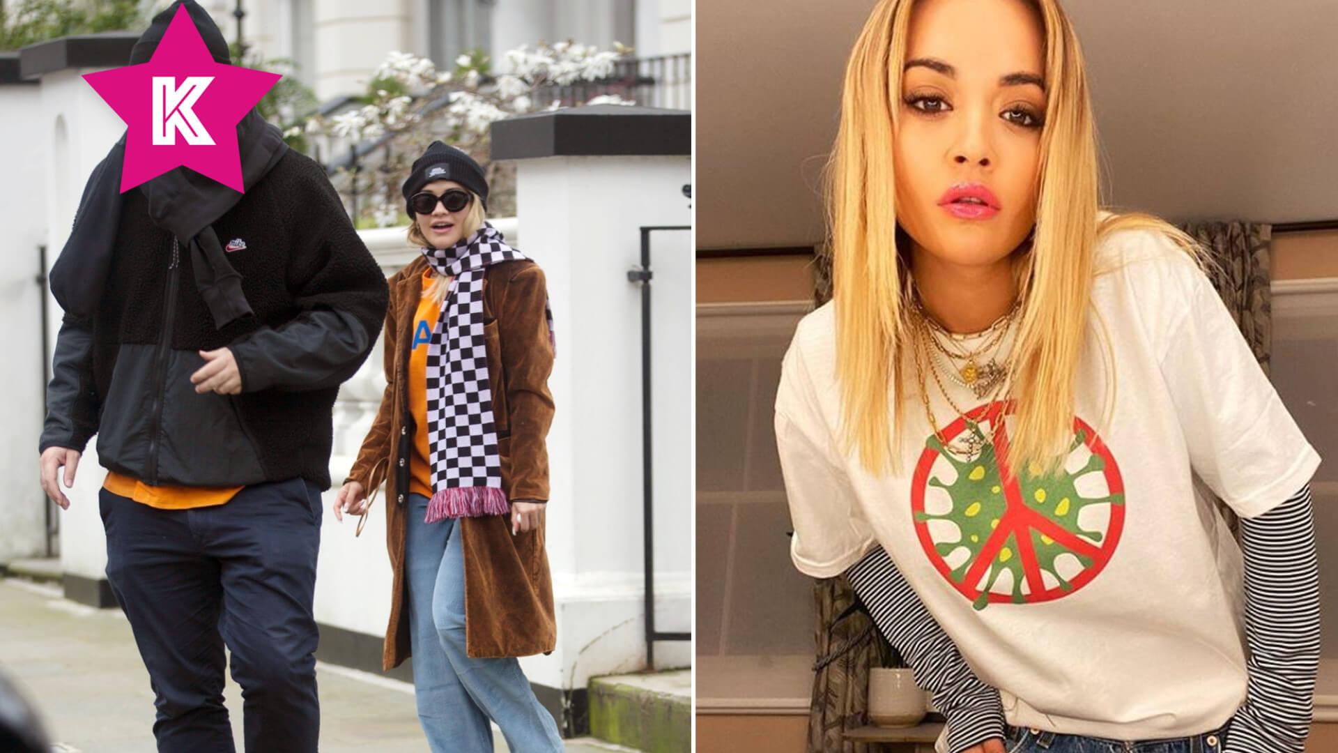 Rita Ora opuszcza mieszkanie w Londynie z tajemniczym mężczyzną (FOTO)