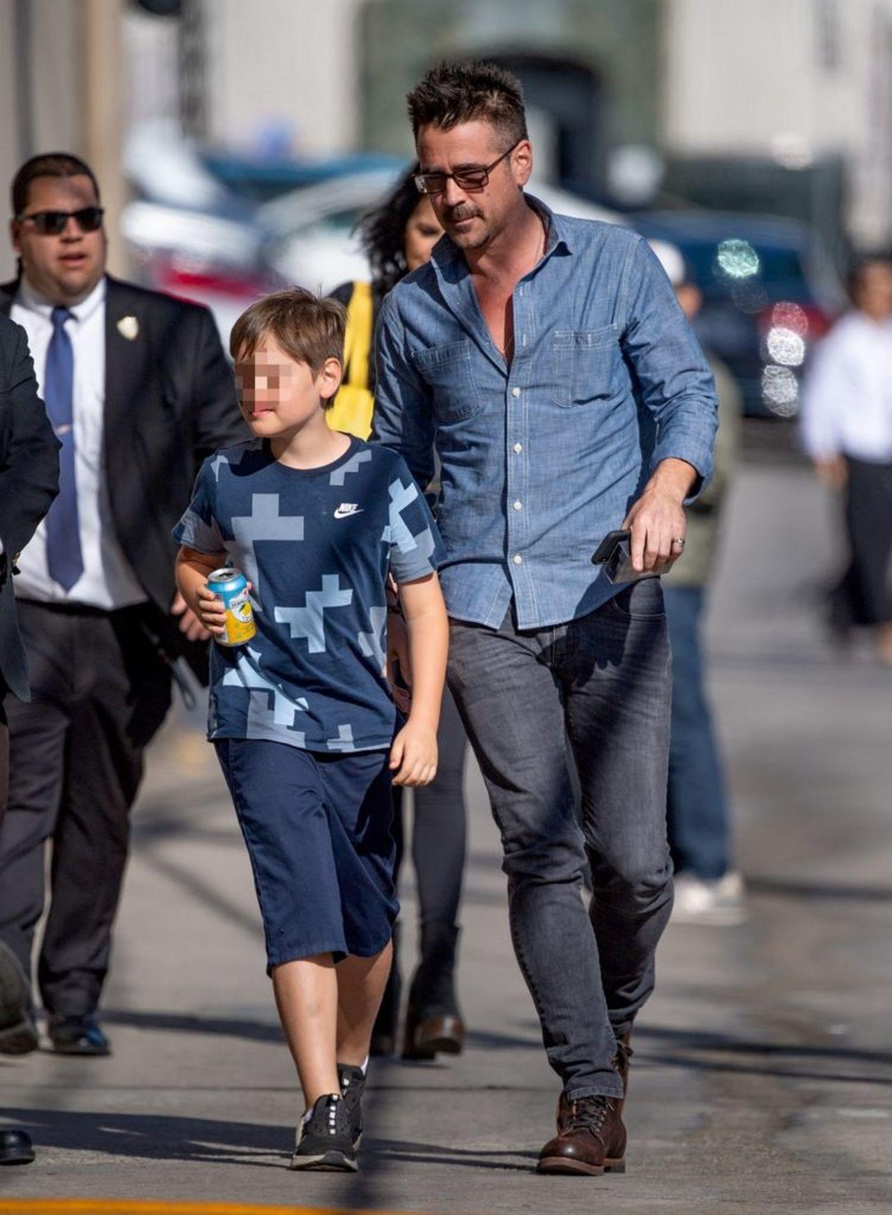 Colin Farrell z synem Henrym