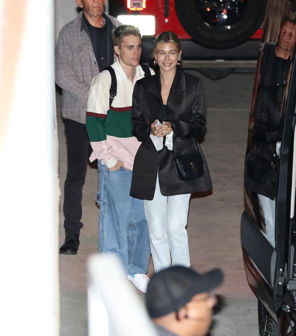 Justin Bieber i Hailey Bieber przyłapani przez fotoreporterów