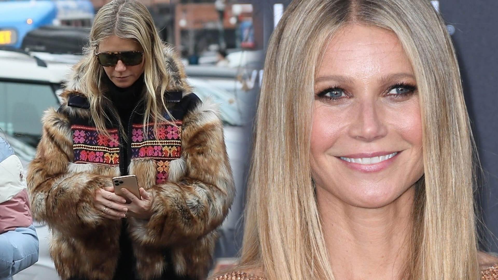 Gwyneth Paltrow w maseczce i rękawiczkach robi zakupy na targu