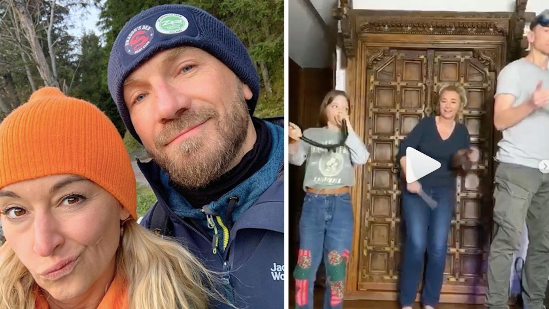 OMG! Tak Martyna Wojciechowska, jej córka i Przemek Kossakowski WYGŁUPIAJĄ się podczas kwarantanny (WIDEO)