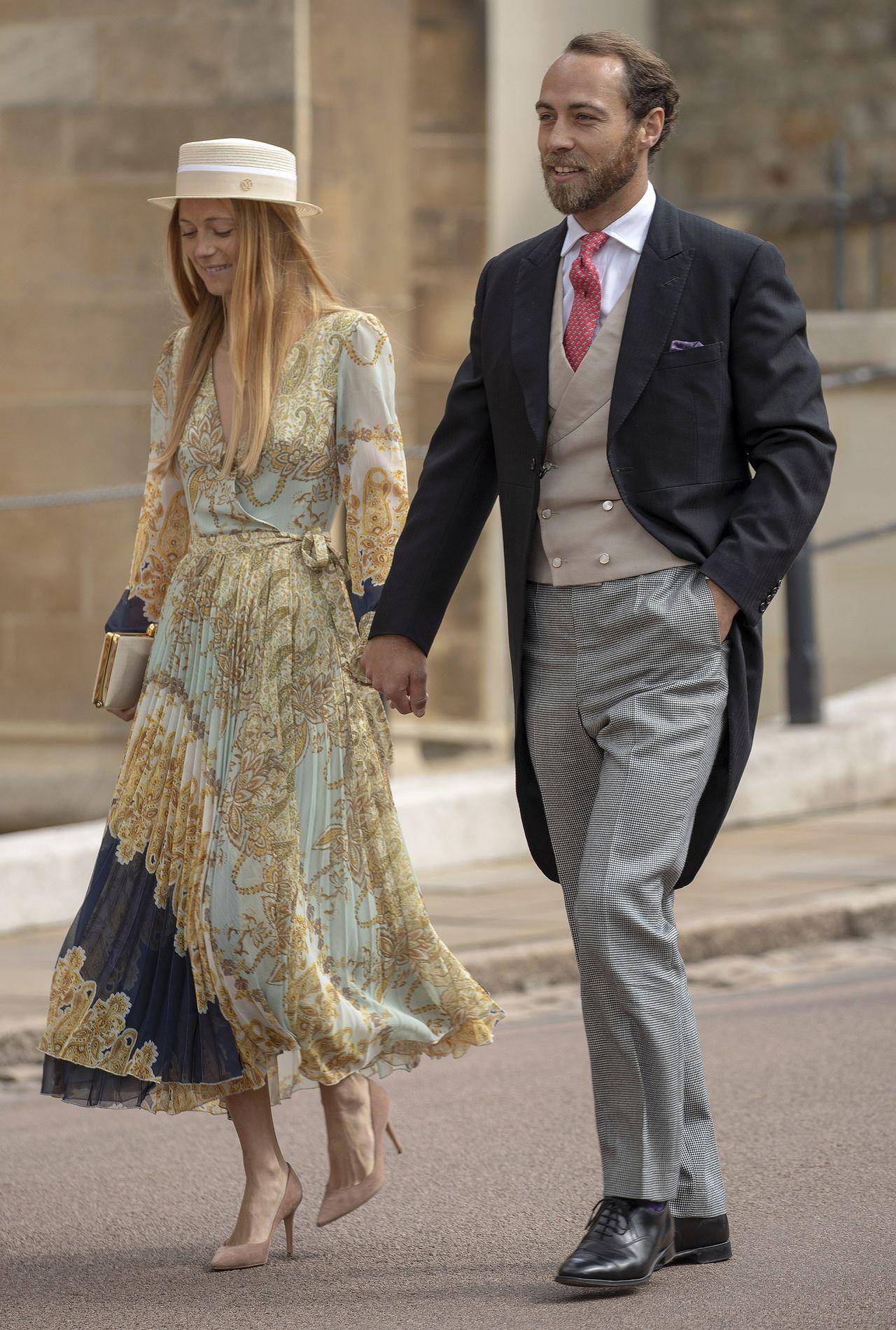 Alizee Thevenet i James Middleton w galowych strojach