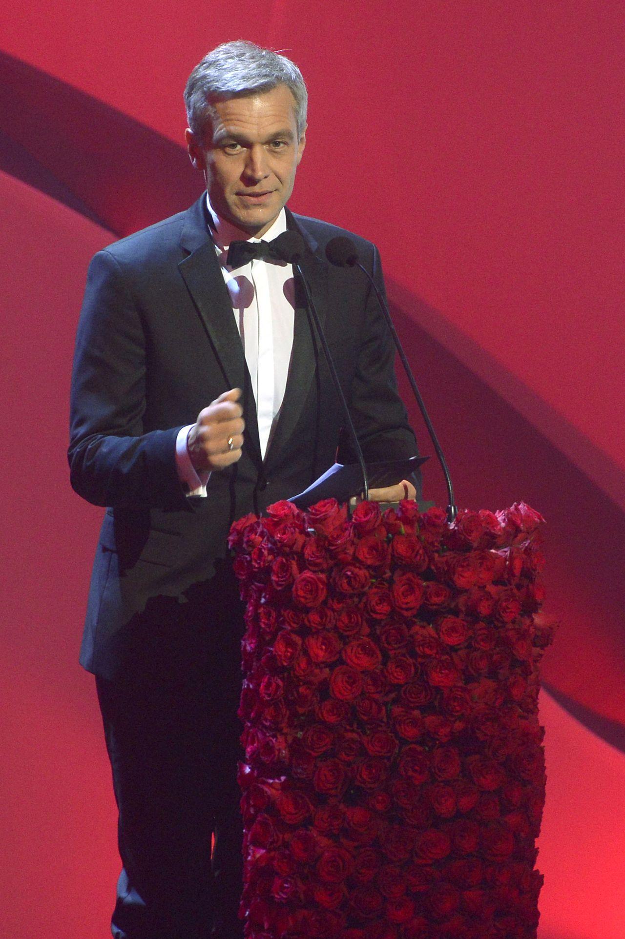Michał Żebrowski wygłasza przemówienia