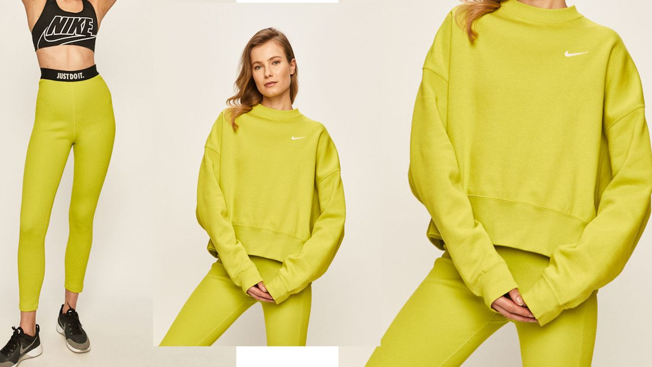 Limonkowy dres nike