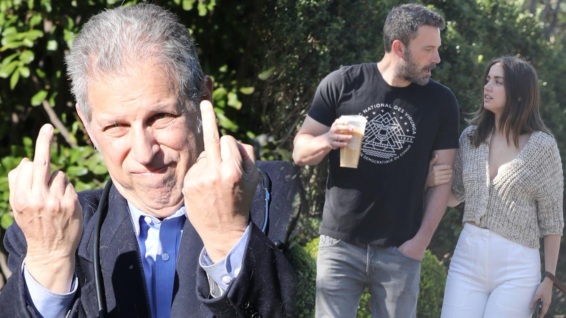 Lekarz wychodzący z domu Bena Afflecka pokazał środkowy palec paparazzi, gdy spytali go o koronawirusa