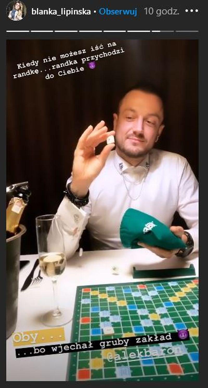 Blanka Lipińska i Baron grali w Scrabble