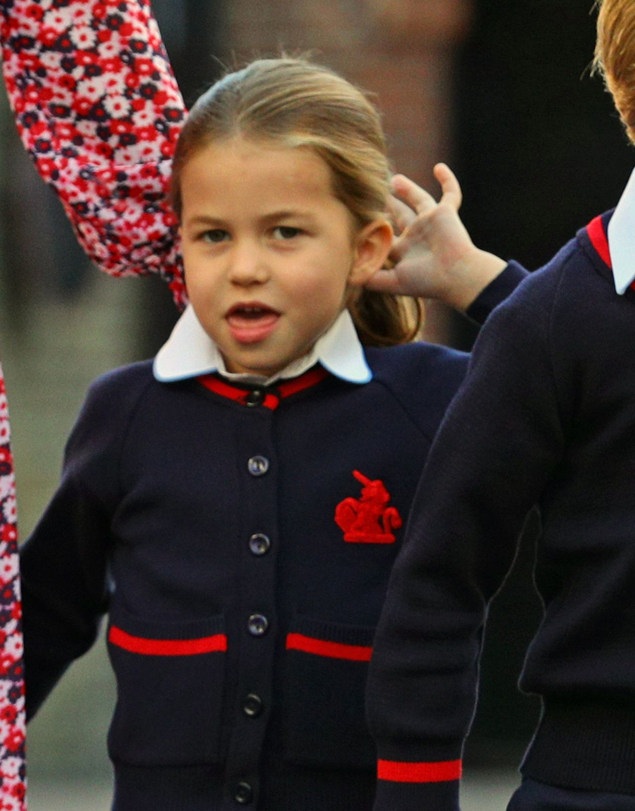 Księżniczka Charlotte stroi miny