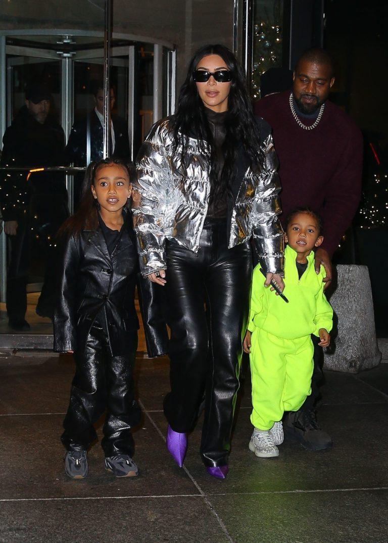 Kim Kardashian i Kanye West z dziećmi