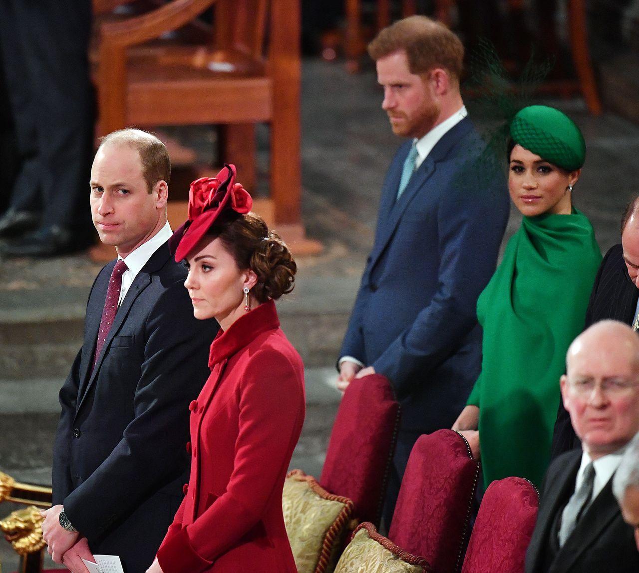 Meghan Markle, Książę Harry, Księżna Kate i Książę, William