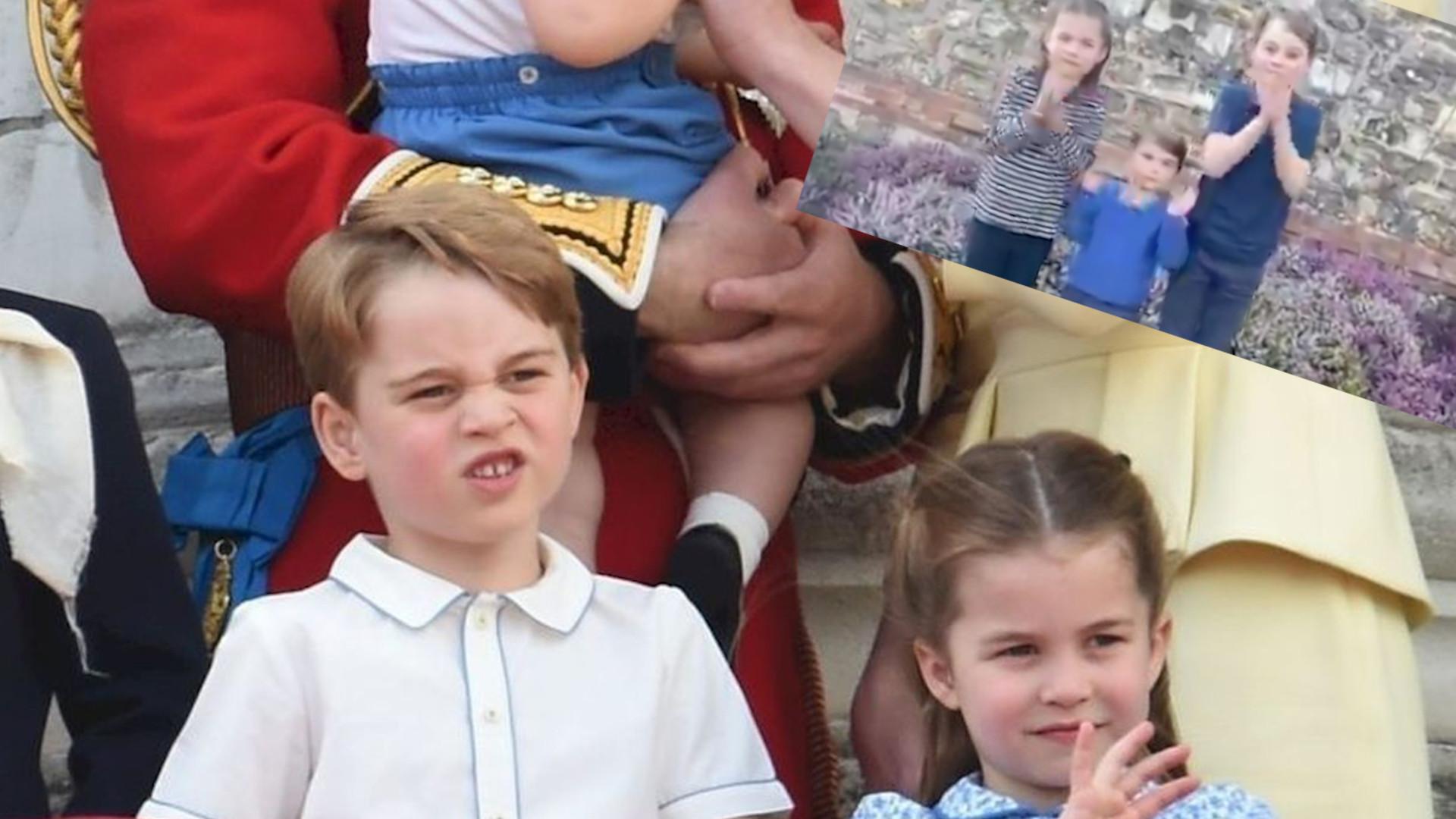 OMG! George, Charlotte i Louis DZIĘKUJĄ za pomoc w walce z KORONAWIRUSEM (WIDEO)