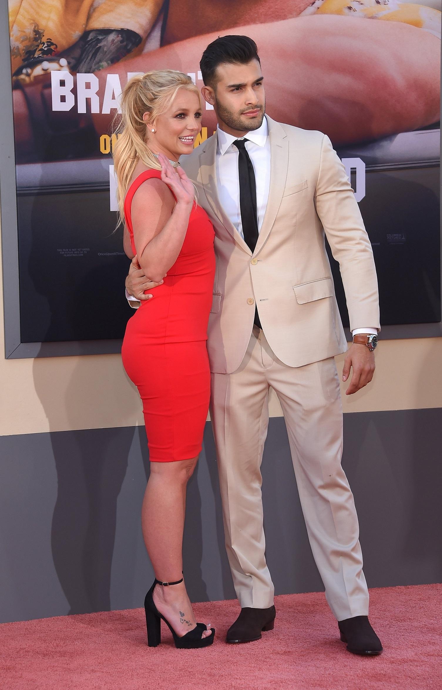 Britney Spears i Sam Asghari na premierze filmu.