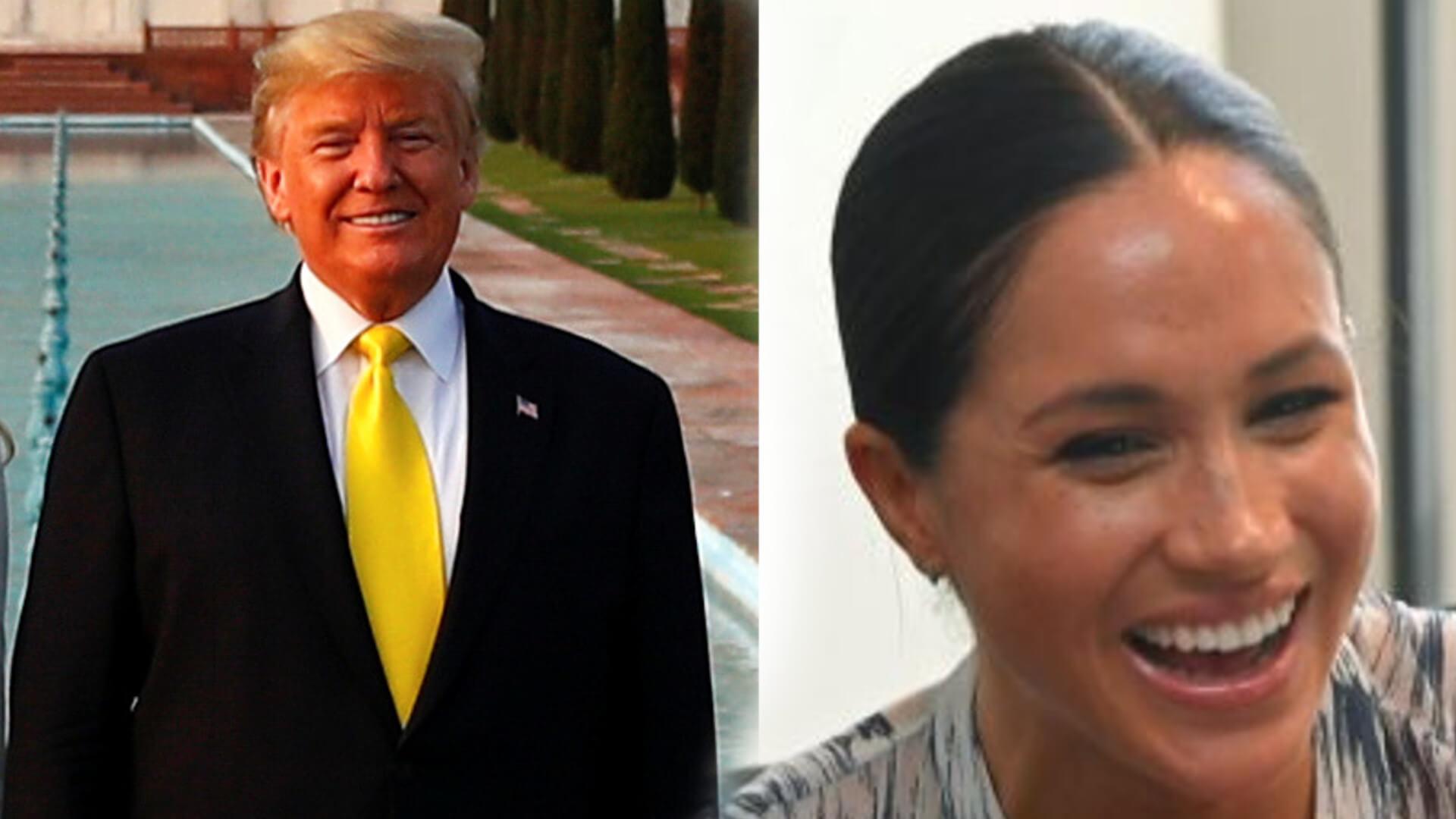 """Donald Trump wbija szpilkę Meghan Markle i Harry'emu """" USA nie zapłaci za ich ochronę"""""""