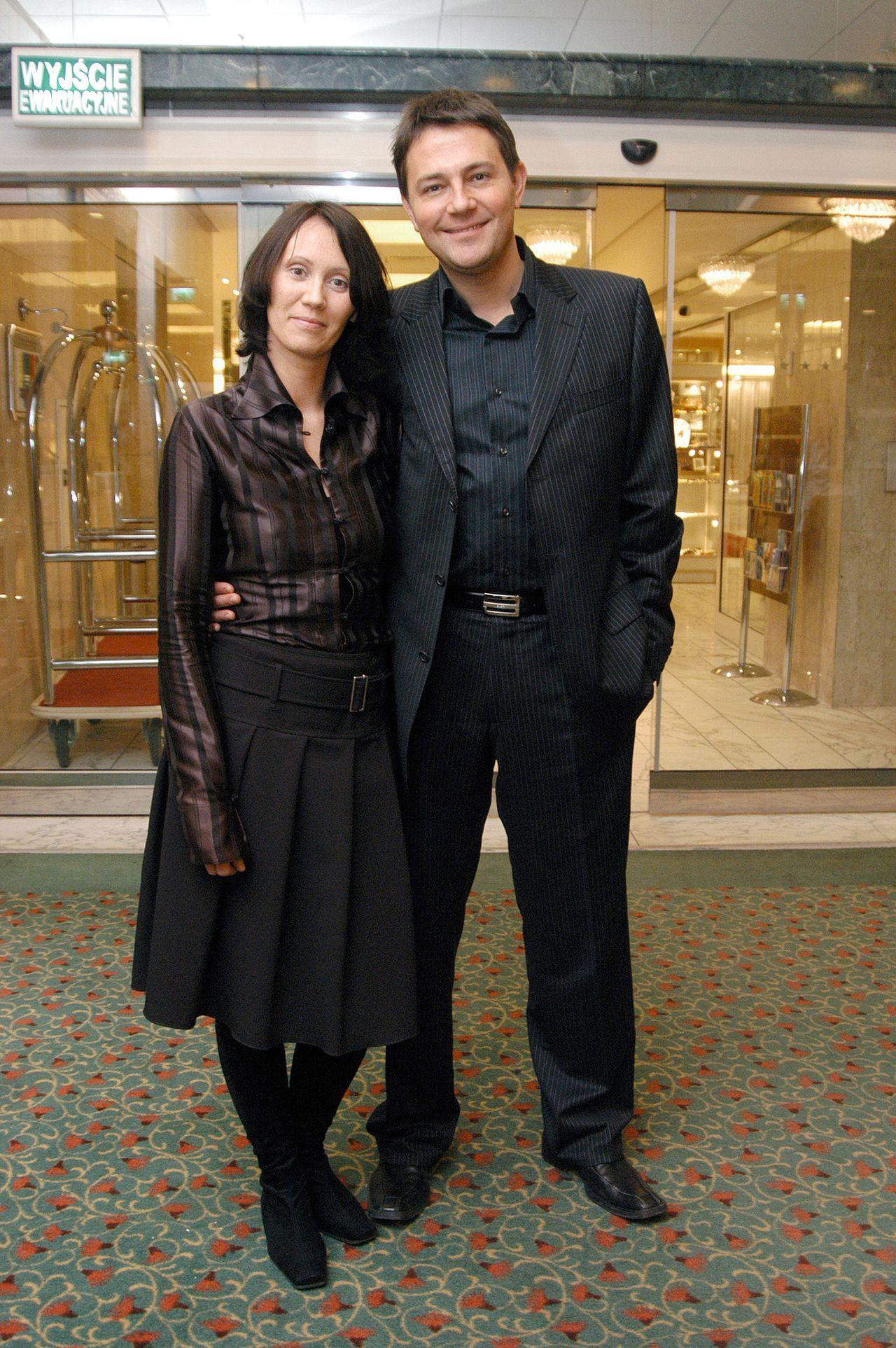 Anna Nowak-Ibisz i Krzysztof Ibisz na ściance