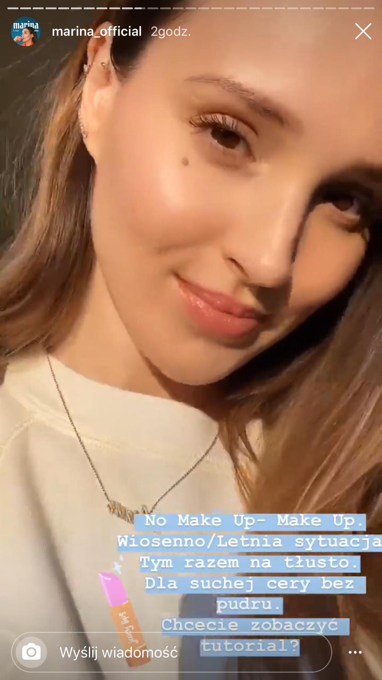 Marina Łuczenko-Szczęsna pokazuje fankom, jak zrobić delikatny makijaż inspirowany jej codziennym malowaniem.