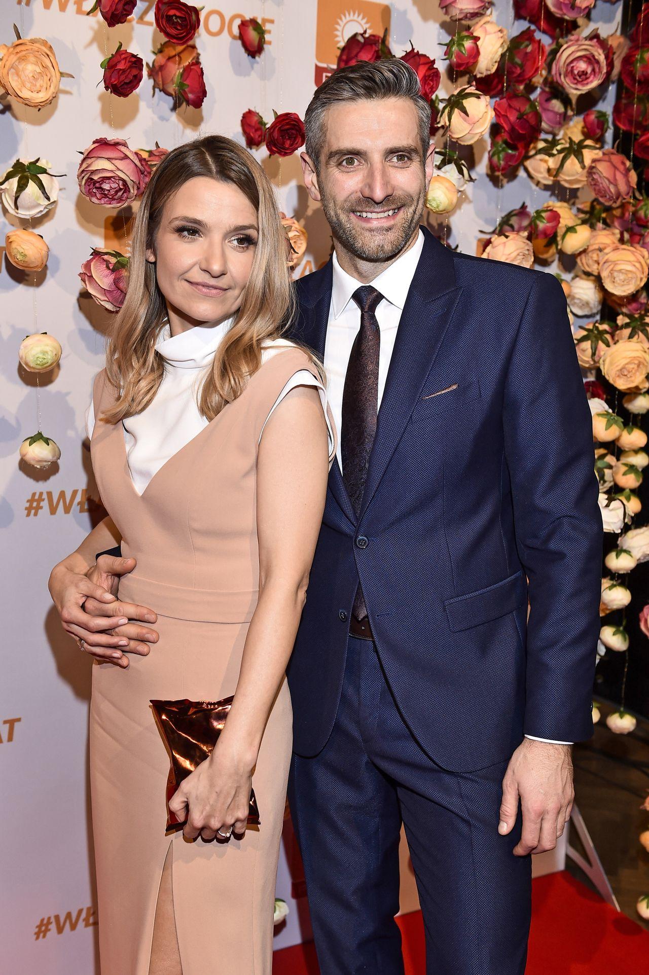 Joanna Koroniewska i Maciej Dowbor na imprezie Polsatu