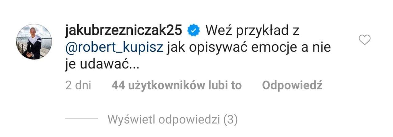Komentarz Jakuba Rzeźniczaka