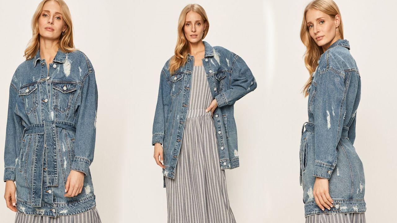 Modelka w jeansowej kurtce